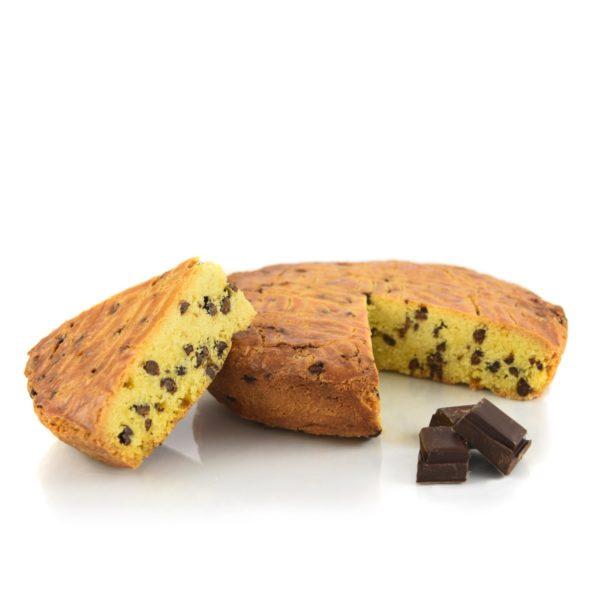 Gâteau breton aux pépites de chocolat déballé